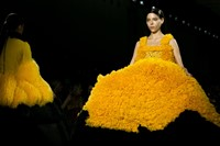 VFiles Made David Ferreira SS16 gown yellow frills 17