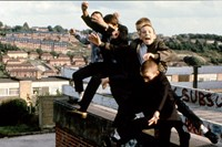 Boys Jumping off Roof, High Wycombe, UK, 1980s 3