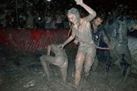 Great American Mud Wrestle LA Lotta Volkova Lily Rose Depp 1