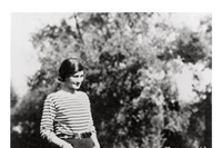 Gabrielle Chanel and her dog at her Gigot Villa La