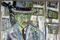 Man On Snowy Street (detail), 2009, courtesy of th 5