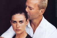 Demi Moore and Bruce Willis for DKNY FW96 2