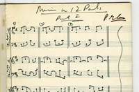 The score for Music in 12 Parts, by Philip Glass 1