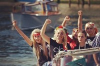 FEMEN members on a boat at Venice Film Festival 12