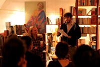 A reading at Atlantis Books. Image courtesy of Ioa 5