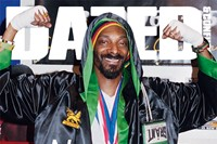 SNOOP DOGG wears satin boxing robe by EVERLAST; t- 0