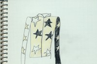 Bella Freud's Star design, to be worn by Tricia Si 0