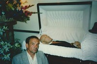 Wayne Propst at WB's funeral - self portrait 0
