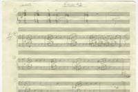 The score for Etude 1, by Philip Glass 0