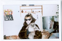 Grimes and her cat Vladimir Poutine 9