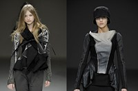 Rick Owens sculptural sheepskin and leather jacket 9