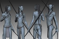 8. 3D study of Neytiri, from Avatar (2009). Photo 5