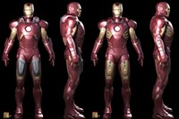3D study of pilot suit for Iron Man (2008). Courte 4