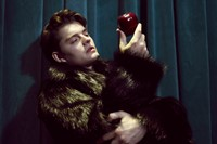 Fur coat by John Galliano; ring Sam Riley's own 0
