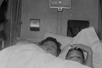 Bergman's mother and brother, taken inside a Pullm 3