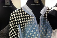 The leather woven jackets from Emporio Armani. 3