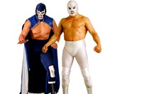 Blue Demon Jnr and Santo 0