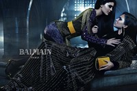 Kendall and Kylie Jenner for Balmain AW15 1