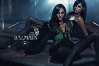 Joan and Erika Smalls for Balmain AW15 2