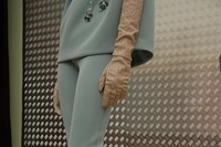 Prada AW15, Dazed backstage, Milan, Womenswear, gloves, blue 22