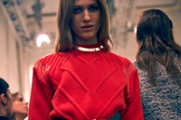 Iceberg AW15 Dazed backstage womenswear high-waist red knit 4