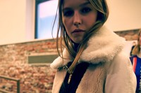 Iceberg AW15 Dazed backstage womenswear lamb fur collar 9