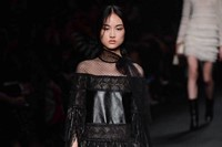 Valentino AW15 Dazed runway womenswear leather strings sheer 14
