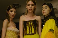 VFiles Made David Ferreira SS16 corset yellow frills nyfw 10