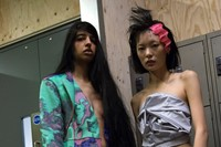 Backstage at the AW20 Central Saint Martins MA fashion show 4