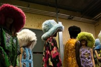 Backstage at the AW20 Central Saint Martins MA fashion show 11