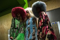 Backstage at the AW20 Central Saint Martins MA fashion show 29