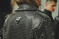 Philipp Plein AW15 Coat Jacket Studs Spikes Leather Black 19
