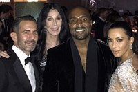 Marc Jacobs, Cher, Kanye West and Kim Kardashian West 8