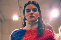 Iceberg AW15 Dazed backstage womenswear knitwear turtleneck 2