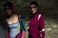 Backstage at the AW20 Central Saint Martins MA fashion show 7