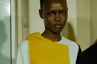 Grace Bol backstage at Jacquemus AW15 0