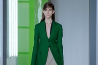 Jil Sander AW15, Dazed runway, Womenswear, Green Blazer 2