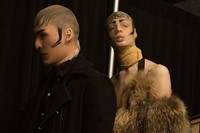Hood By Air AW15 Dazed backstage womenswear fur pantyhose 4