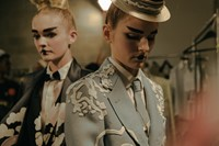Thom Browne backstage 20