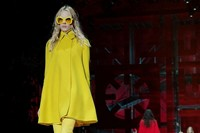 Versace AW15 Dazed runway womenswear yellow cape sunglasses 2