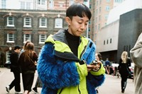 Yu Fujiawara street style London Fashion Week 10