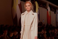 Fendi AW15, Womenswear, Dazed, Cream, Collared Coat 1