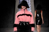 Ashley Williams AW15, Womenswear, Pink And Black Fur Jacket 10