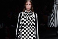 Valentino AW15 Dazed runway womenswear checkered geometrical 1