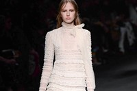 Valentino AW15 Dazed runway womenswear layers frills white 10