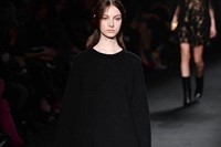 Valentino AW15 Dazed runway womenswear black triangles gold 23