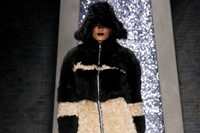 Ashley Williams AW15, Womenswear, Zip Two Tone Fur Coat 18