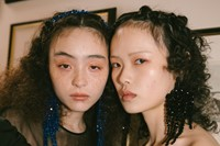 Backstage at the AW20 Simone Rocha fashion show LFW 23