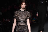 Valentino AW15 Dazed runway womenswear shimmer gown black 18