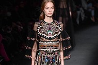 Valentino AW15 Dazed runway womenswear mayan sheer gown 15